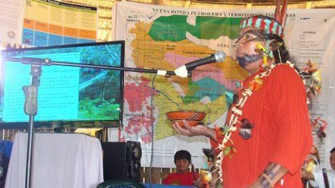 Asamblea General de la cabeza del Pueblo Sarayaku