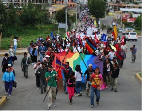 Marcha plurinacional por el Agua, la Vida y la dignidad de los pueblos