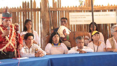 Sarayaku se pronuncia frente a la vicita de la corte IDH