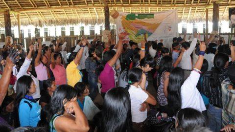El pueblo de Sarayaku reunido en una asamblea extra ordinaria el día 18 del septiembre del 2012, resuelve los siguientes: