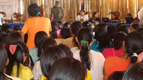 Sarayaku: Gran Asamblea general ratifico rotundo  rechazo a la XI ronda petrolera