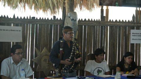 El pueblo kichwa de Sarayaku mantuvo una tercera reunión de trabajo técnica con la comisión interministerial para el proceso del retiro de pentolita en superficie del territorio de Sarayaku.