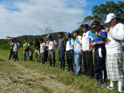 Encuentros deportivos   inter escolares  de los Pueblos de la Cuenca del Bobonaza Pakayaku y  Sarayaku.