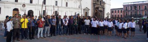 Sarayaku invita para el acto ritual en hotel Quito