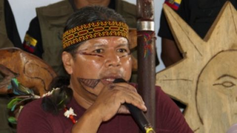 Rueda de prensa de VII congreso del sumak Kawsay Sarayaku