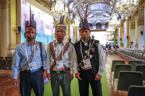 Dirigentes indígenas posicionan la propuesta de selva viviente en Paris Francia COP21