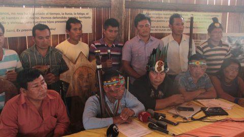 Pronunciamiento por la unidad de los pueblos Originarios en defensa de los territorios ancestrales.