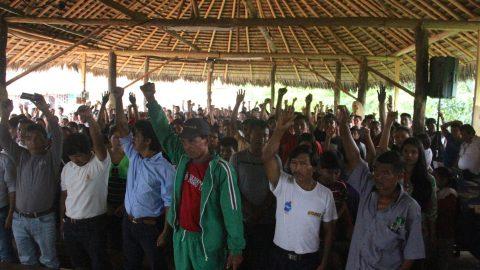 Pronunciamiento  del Pueblo Originario Kichwa de Sarayaku en su asamblea general ordinaria de los dias 16,17, 18  de diciembre del 2016 frente  a la  incursion armada del ejercito y la fuerza publica en territorio de los hermanos del pueblo Shuar Nankints, de Morona Santiago
