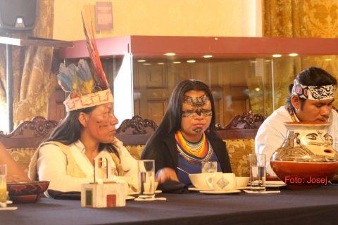 Intervención de la presidenta del Pueblo Originario Kichwa de Sarayaku.