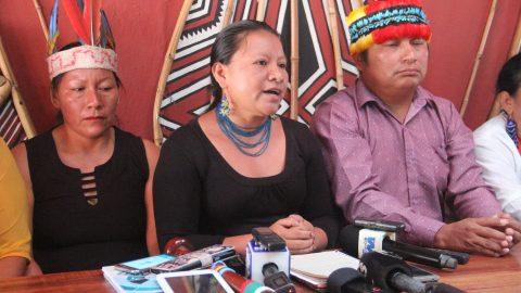 Amenaza a las lideresas Indigenas en la Amazonia Ecuatoriana.